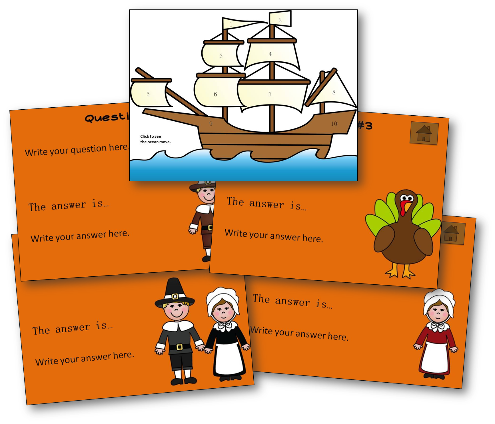 free thanksgiving powerpoint template teaching with nancy