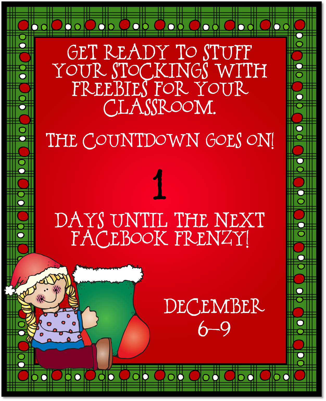 December FB Frenzy Countdown day 1