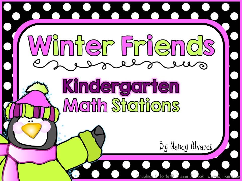 Winter Kindergarten Math Stations