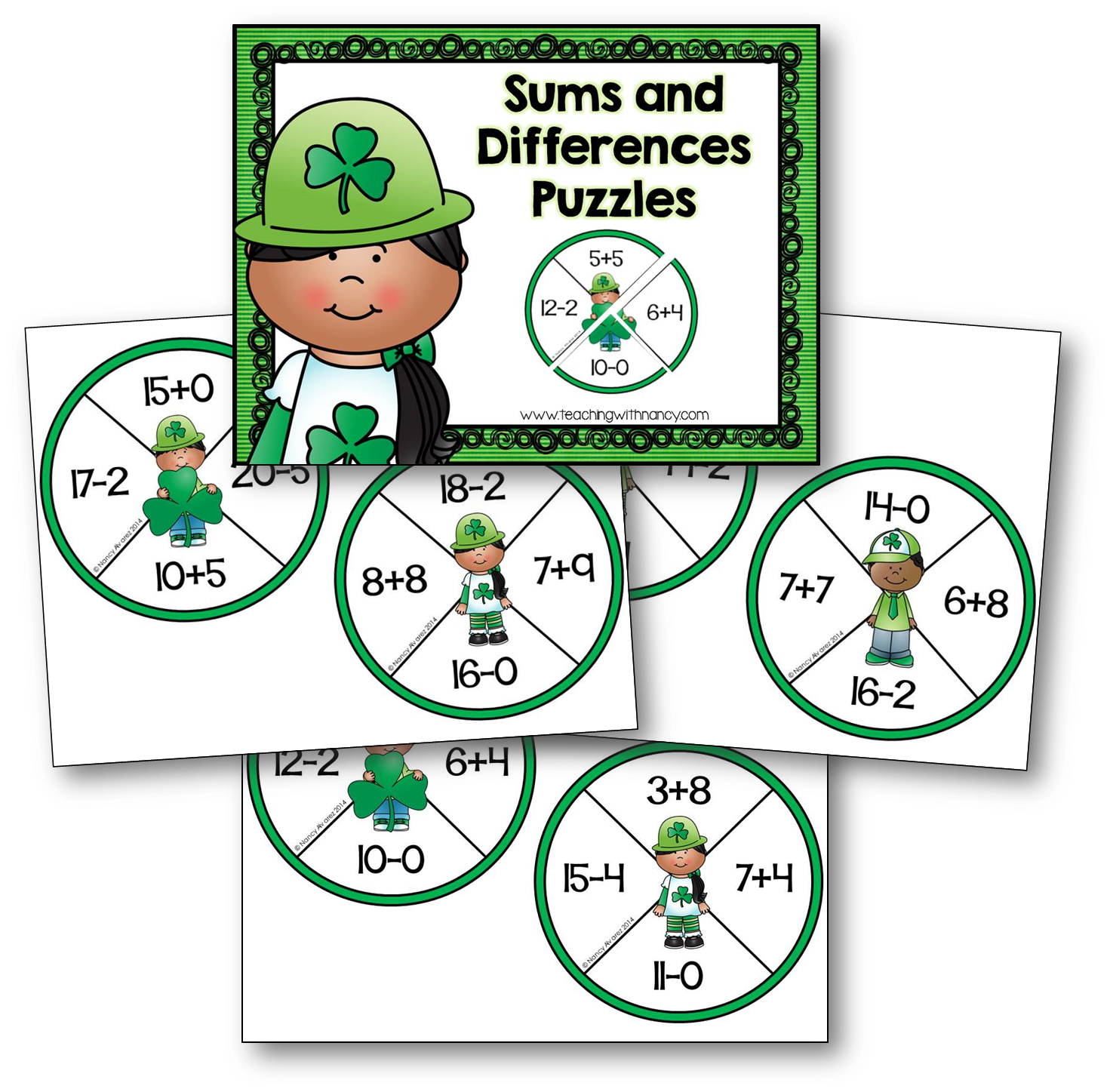 ST p math freebie puzzles