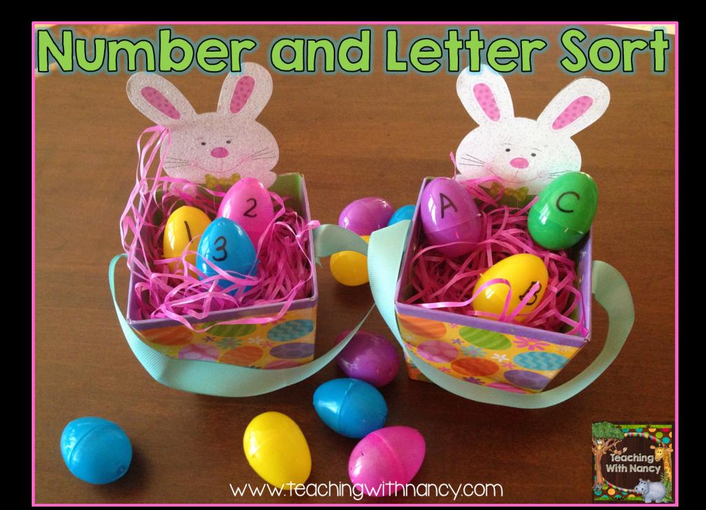 Number and Letter egg sort