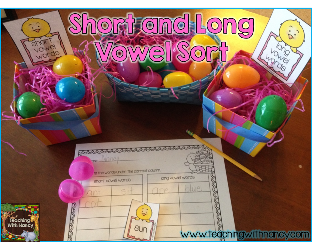 Short and long vowel sort landscape