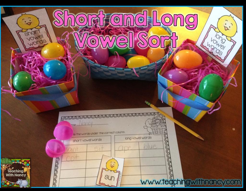 Short and long vowel sort landscape