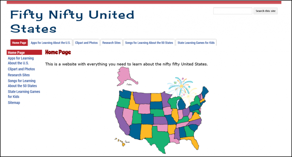 Fifty Nifty United States Research site.