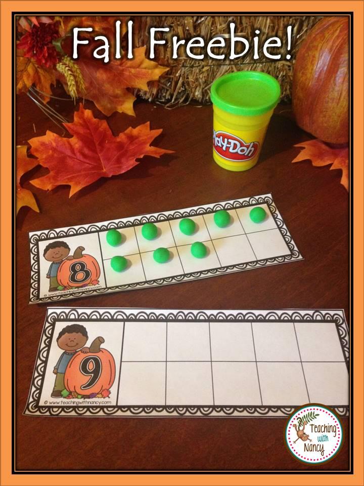 Fall Pumpkin Ten Frame Freebie