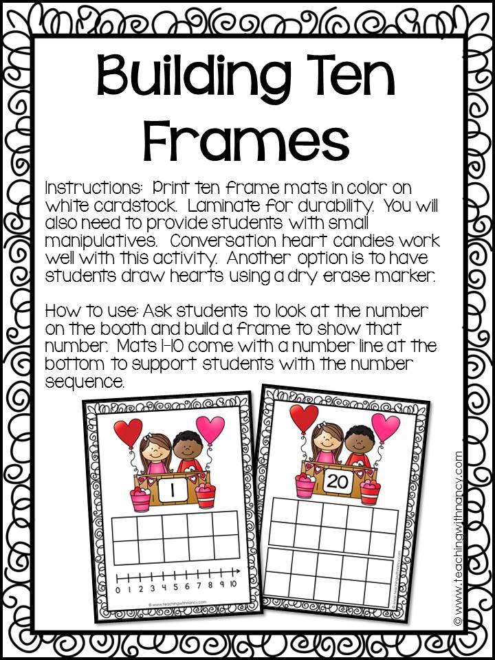 Valentine S Day Ten Frames