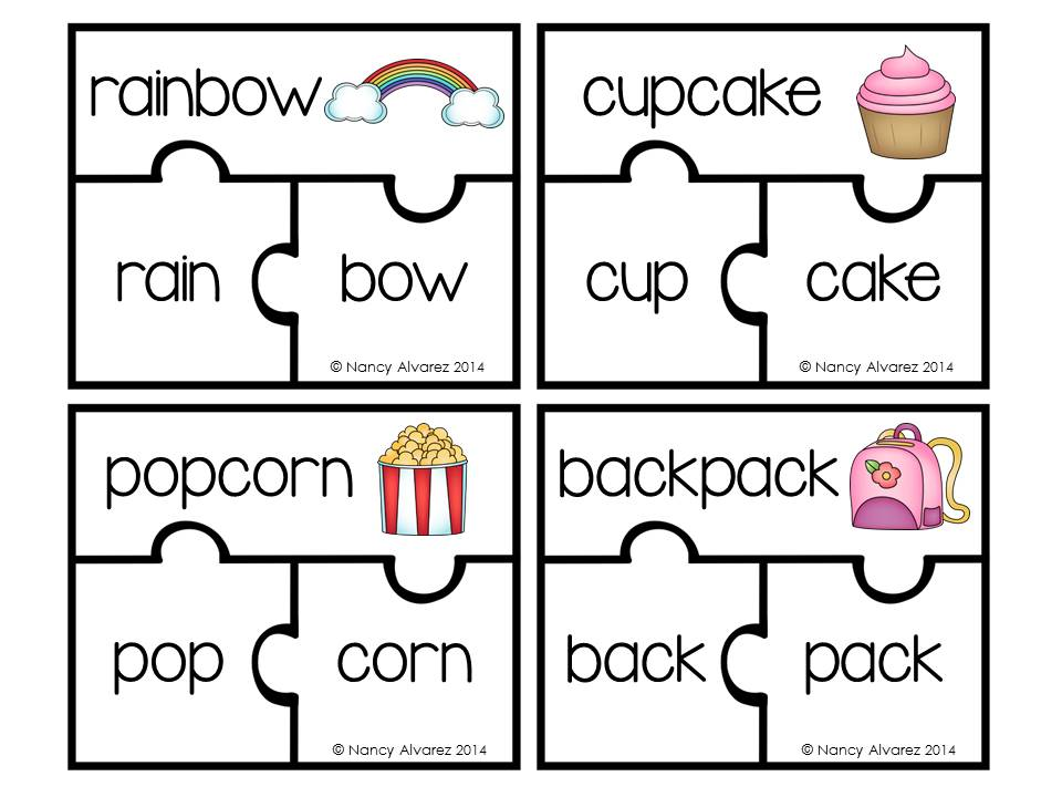 10 pictures of compound words