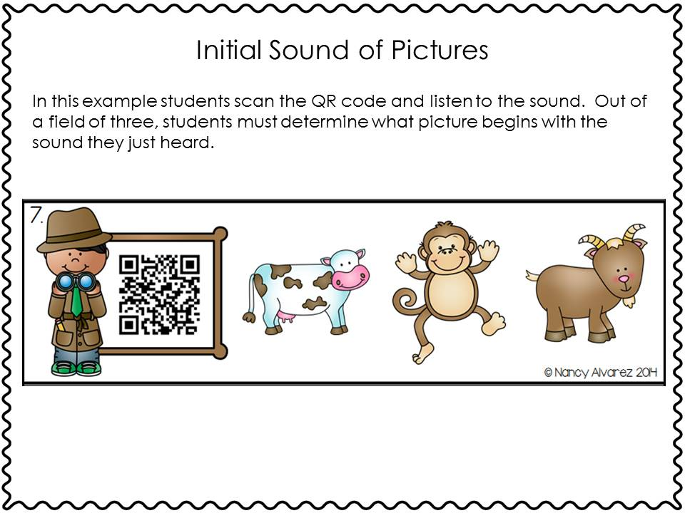 QR Code Initial Sounds