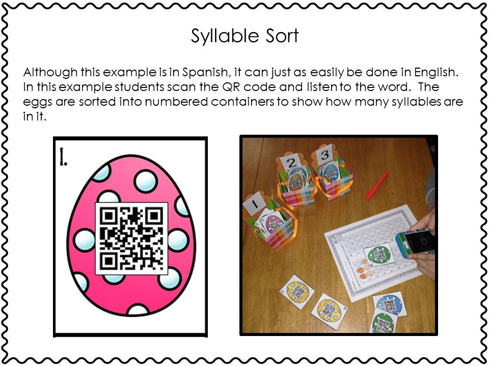 QR Code Syllable Sort