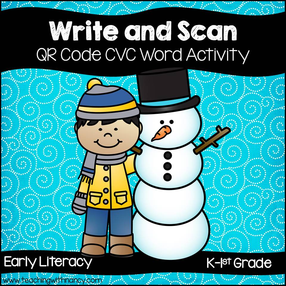 QR Codes: Write and Scan CVC Words