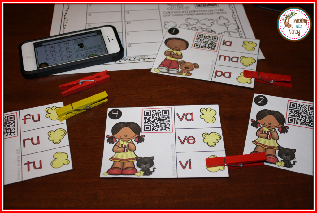 Teaching with Nancy QR Codes