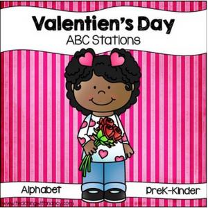 Valentine's Day Letter Discrimination Stations