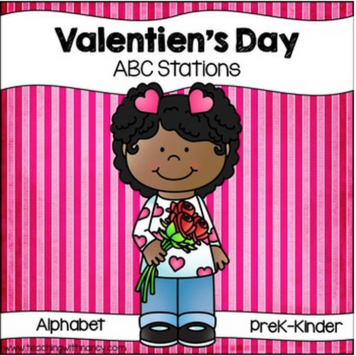Valentine's Day Letter Discrimination Stations