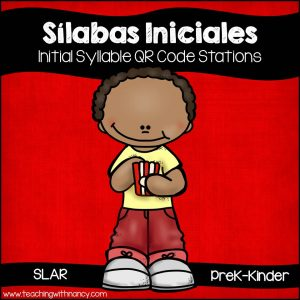 Spanish: Silabas Iniciales QR Code Stations