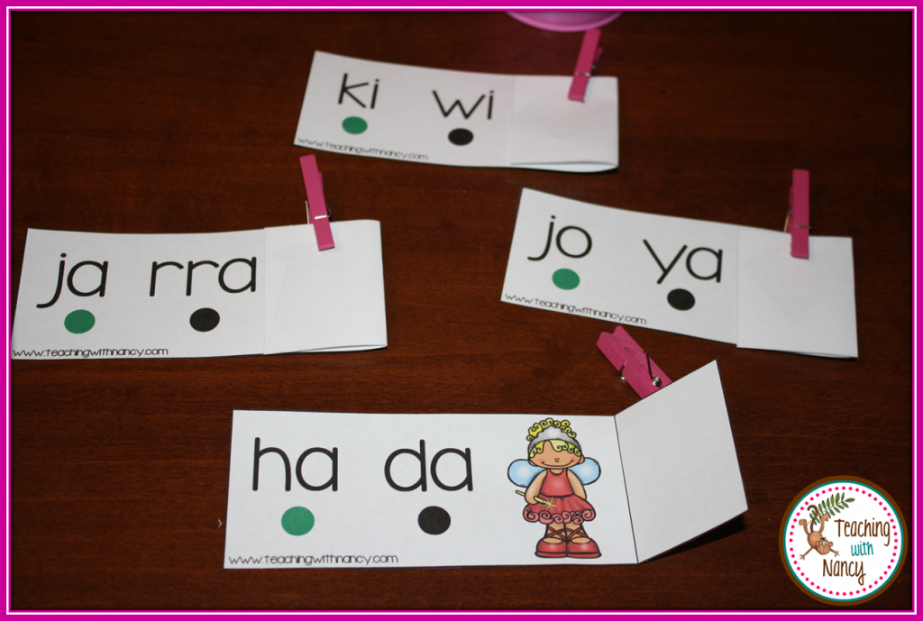 bisilabas Spanish Word Work