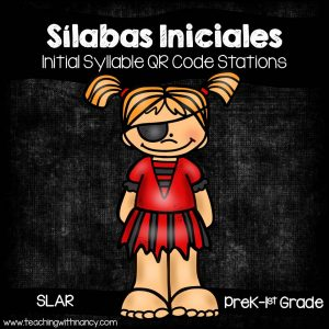 Spanish Syllable QR Code Pirate Word Work