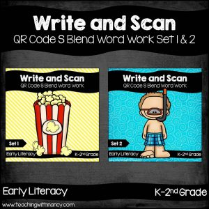 Write and Scan S Blends Set 1 & 2