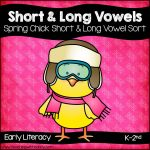 Spring Chick Short and Long Vowel Sort