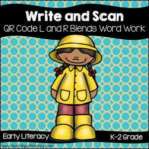 Write and Scan L and R Blends Word Work