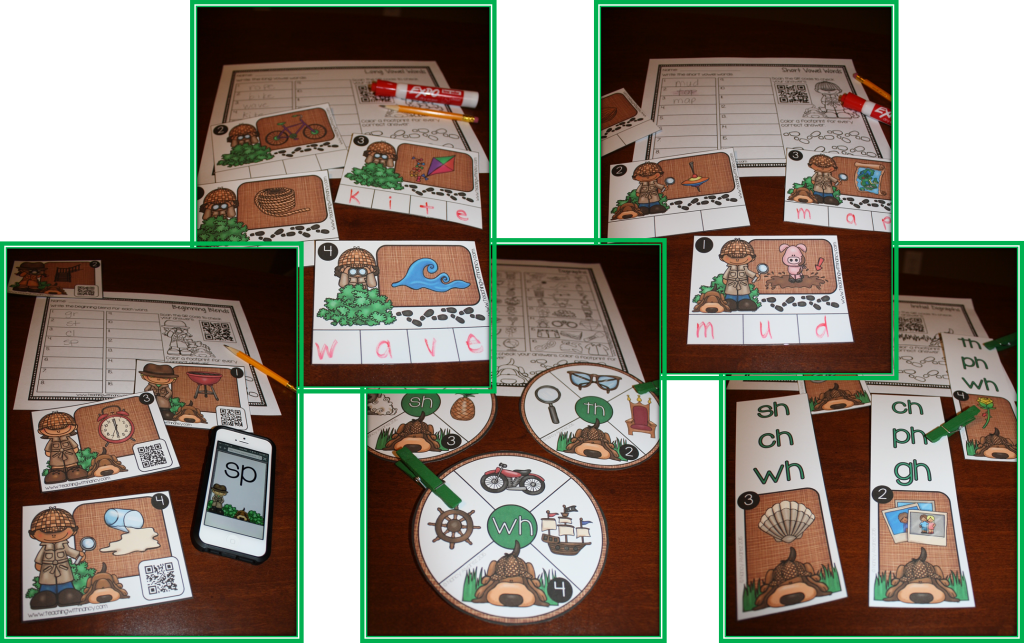 Sound Detective Word Work Stations