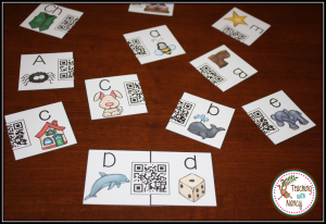 Spanish QR Code Letter Matching Puzzles