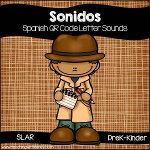 Spanish: Letter Sound Detective QR Code Station