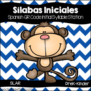 Spanish: Monkey Initial Syllable QR Code Station