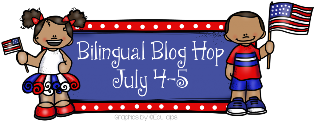 4th of July Bilingual Blog Hop Header