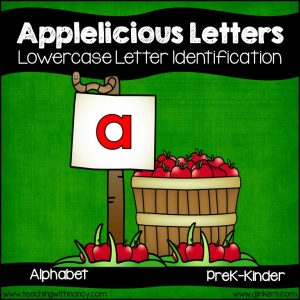 Applelicious Lowercase Letters