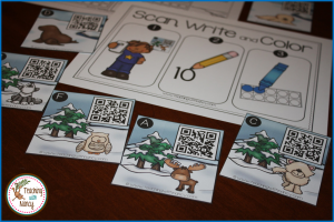 Arctic Animal Count the Room Stations - Base Ten Kindergarten Math