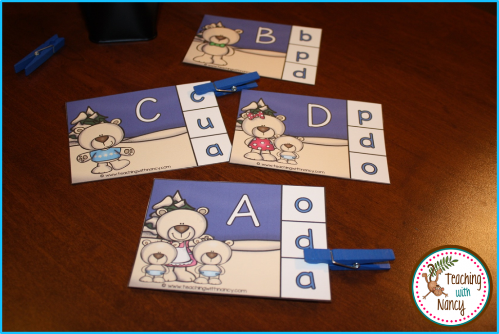 Winter ABC Clip Cards