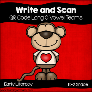 QR Code Write and Scan Long O Vowel Teams