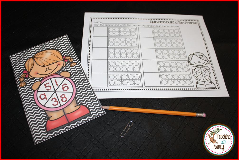 Ten Frame Kids Kindergarten Math Stations