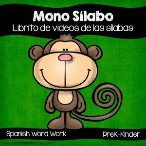 Spanish: Sílabas con el Mono Sílabo