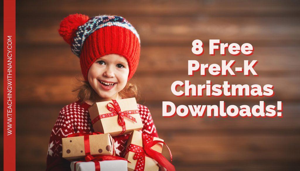 8 FREE PreK and K Christmas Downloads