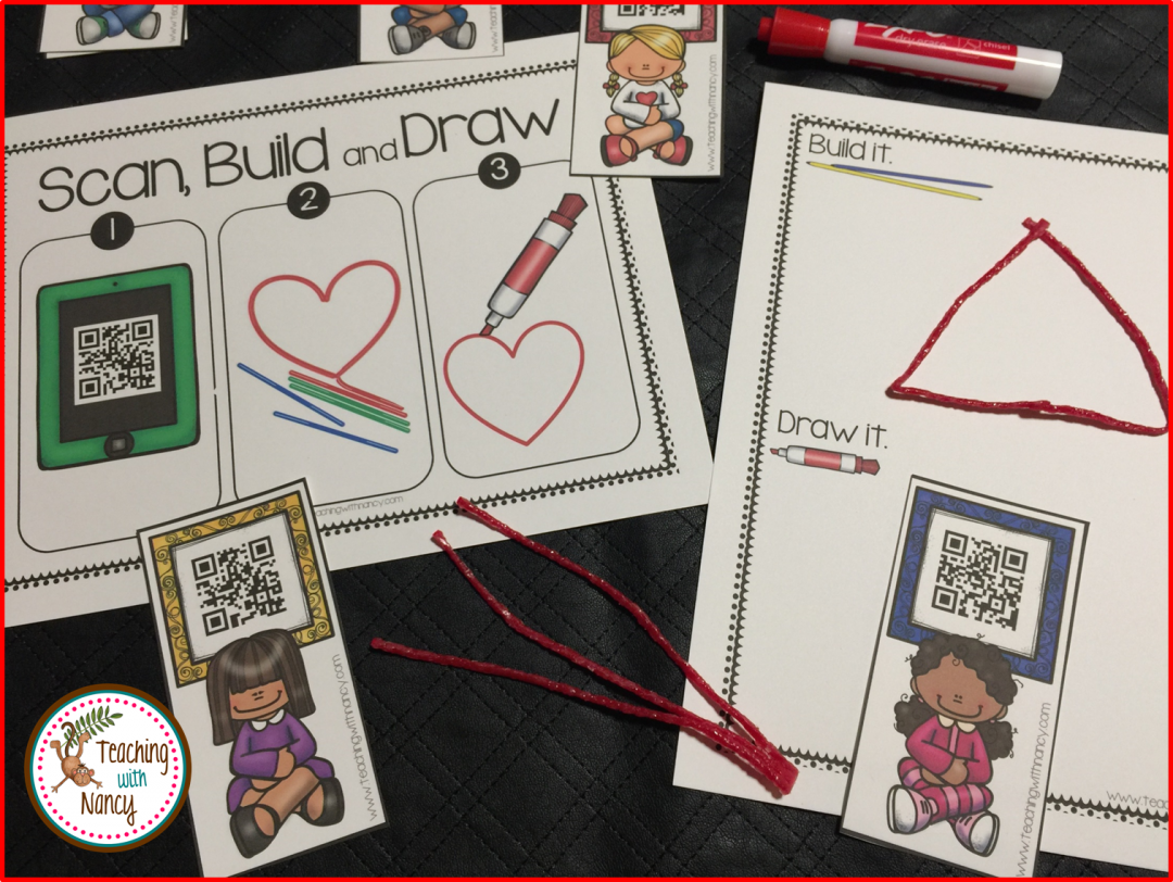 2d Shapes Qr Code Station Teaching With Nancy