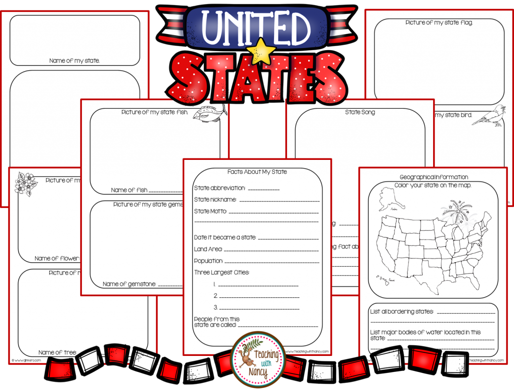 State Report Research Project Made Easy! | Teaching with Nancy