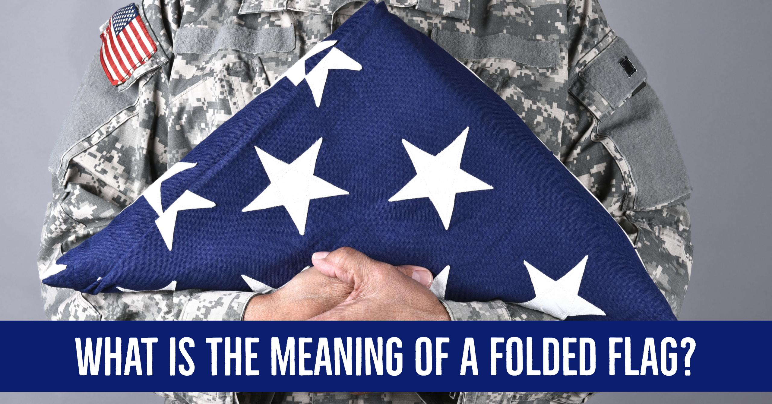 Meaning of a Folded Flag