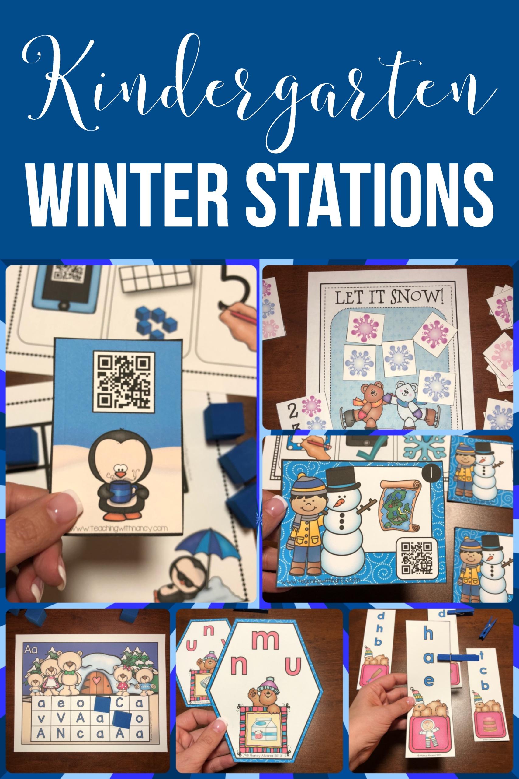 Kindergarten Winter Stations